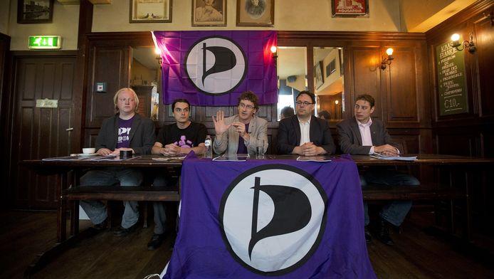 Het bestuur tijdens de presentatie van de kandidatenlijst voor de Kamerverkiezingen van 2012.