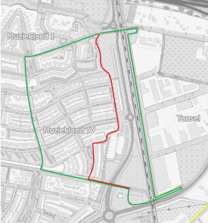 De rode - bochtige- route via de Belcantodreef en de Rapdreef wordt afgesloten voor fietsers. Zij worden verwezen naar de groene routes; rechts via het Beneluxpad langs de spoorlijn en links via het Operapad.