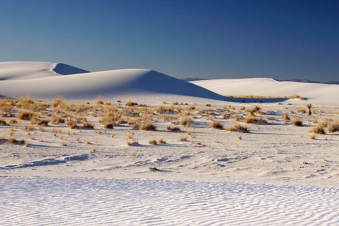 Het White Sands National Park is een natuurgebied met duinen van gipskristallen.