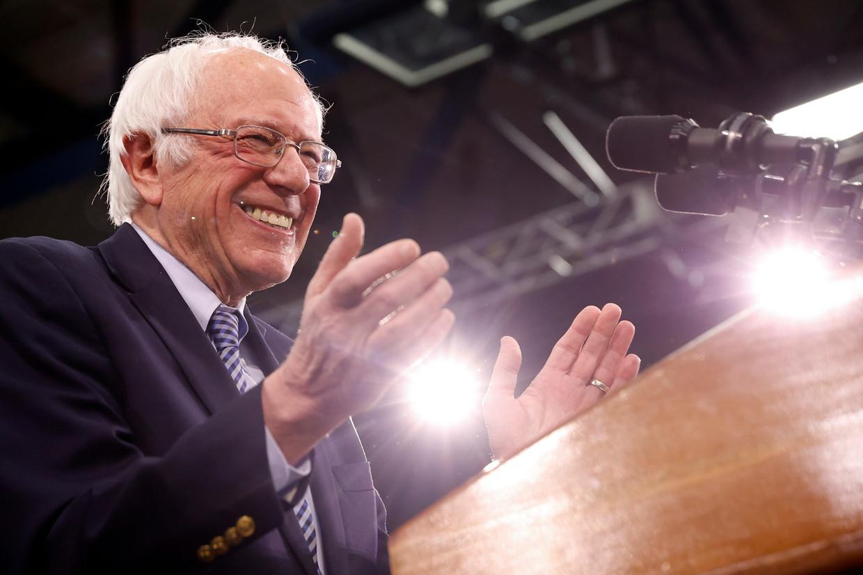 De Democratische presidentskandidaat Bernie Sanders. Beeld REUTERS