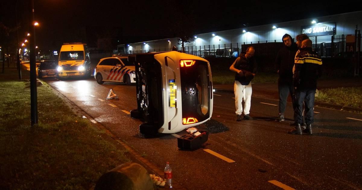 Twee gewonden bij ongeluk in Waalwijk.