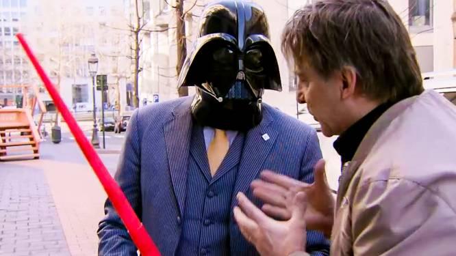 'Bart Vader': De Wever kruipt letterlijk in de huid van Darth Vader