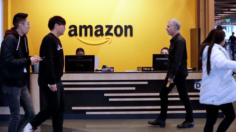 Het hoofdkantoor van Amazon in Seattle.  Beeld AP