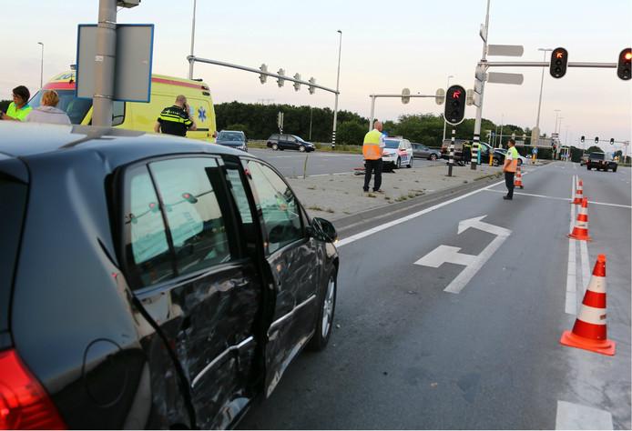 Twee auto's raakten bij het ongeluk betrokken.