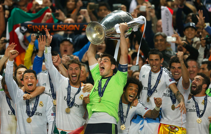 Real Madrid won vorig seizoen de Champions League.