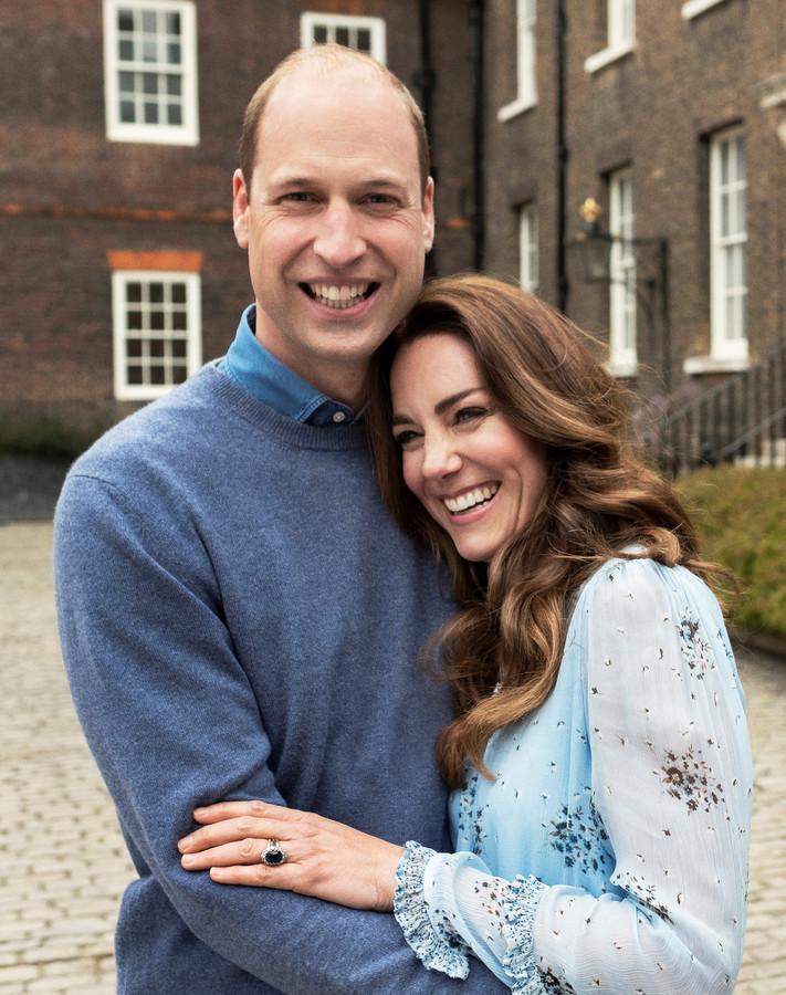 Prins William met zijn vrouw Kate.