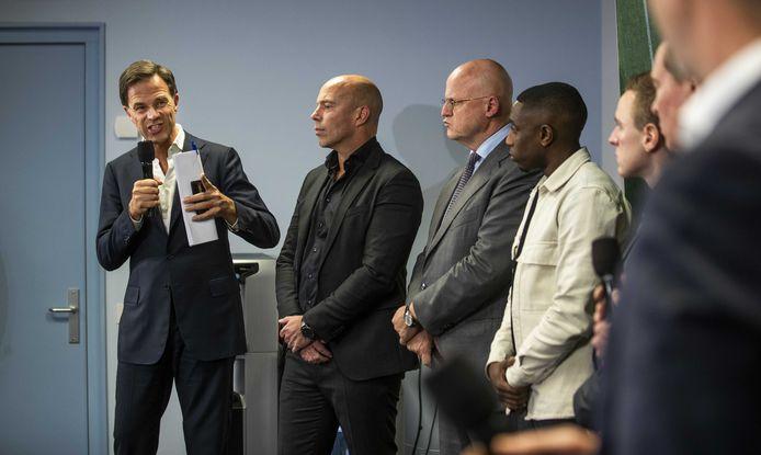 Premier Mark Rutte spreekt in Zeist bij de KNVB met betrokkenen over de gebeurtenissen bij FC Den Bosch.