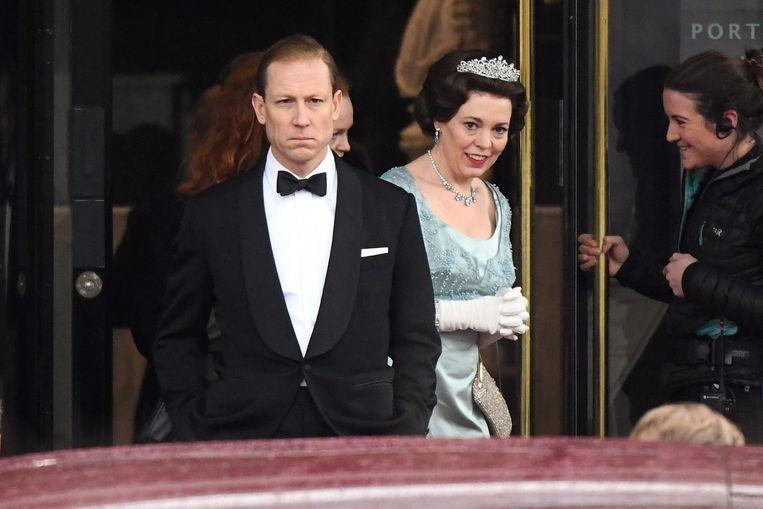 Olivia Colman en Tobias Menzies in 'The Crown'. Beeld Netflix