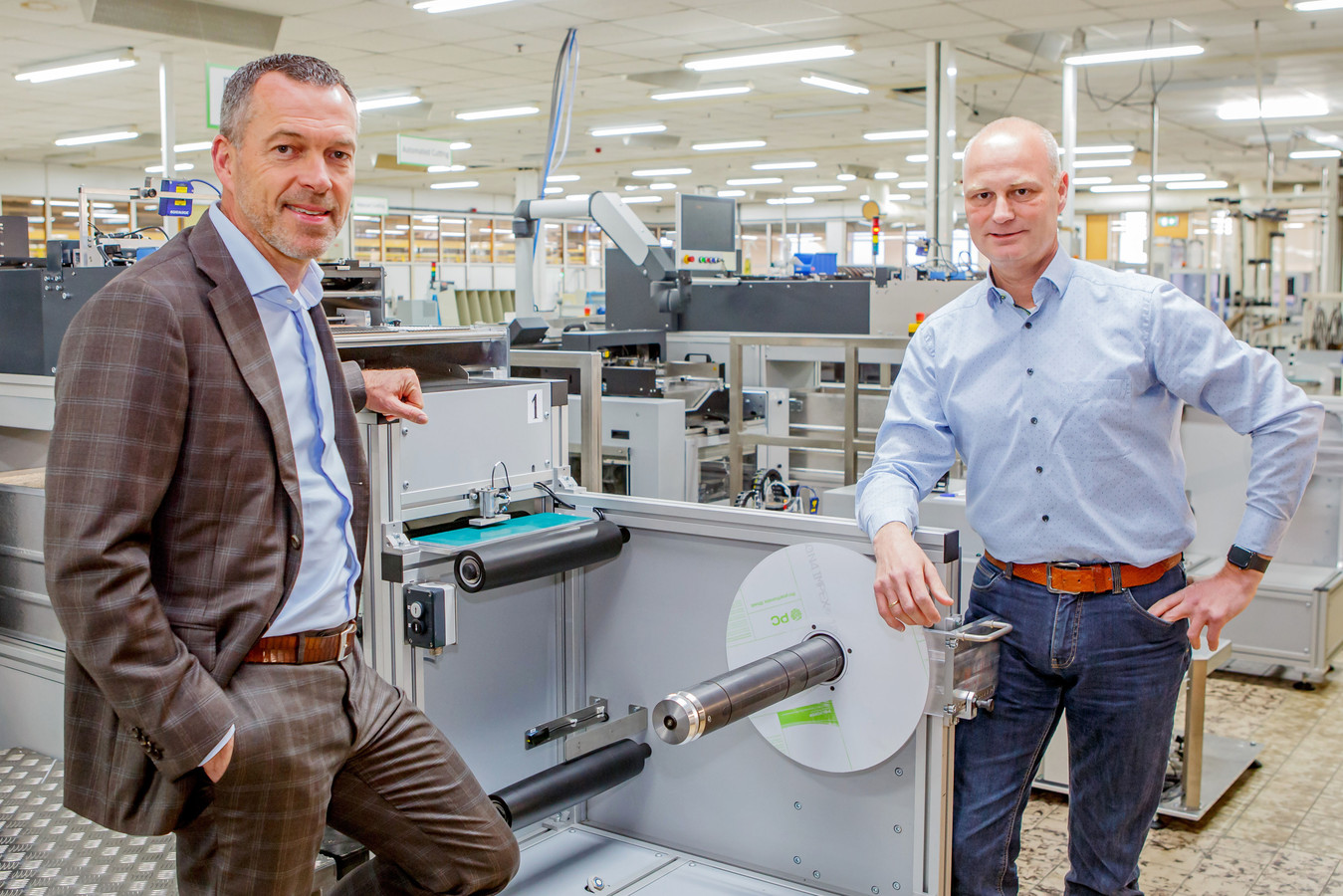 Algemeen directeur Anton Nuijten (links) en Frank Lubbers, manager technologie en innovatie.