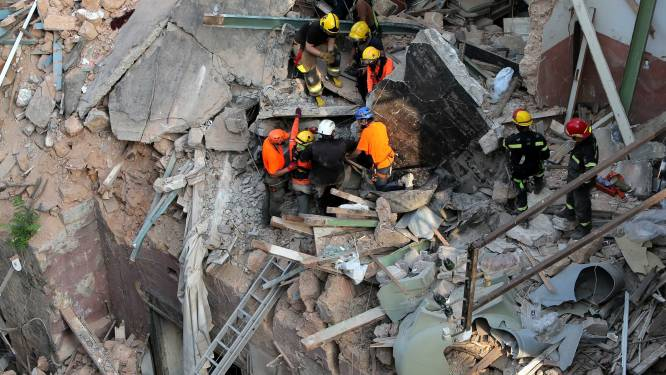 Zoektocht naar overlevende explosie Beiroet stopgezet