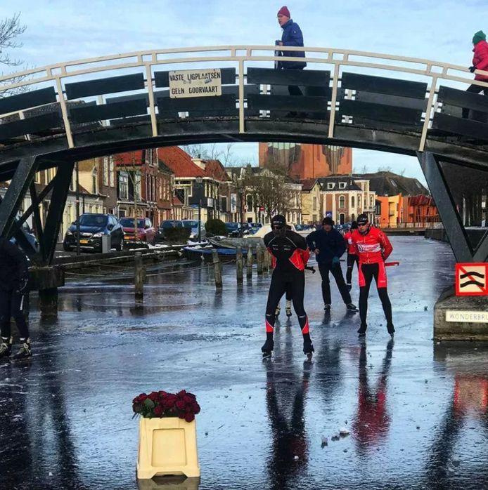 De Wonderbrug in Sneek (Friesland).