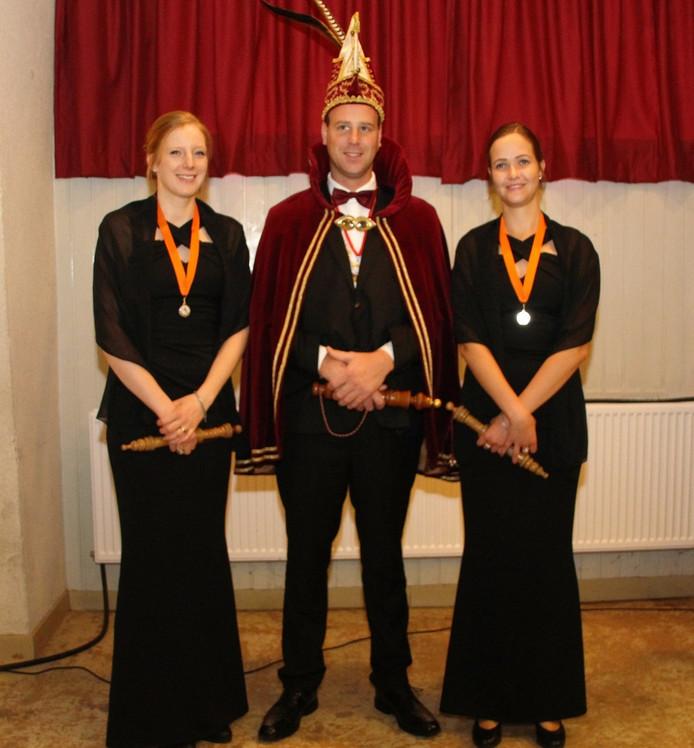 Prins Maikel van Kekerdom en zijn pages.