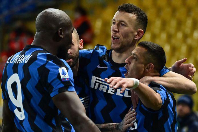 Romelu Lukaku en Alexis Sanchez waren de grote mannen aan de kant van Inter.