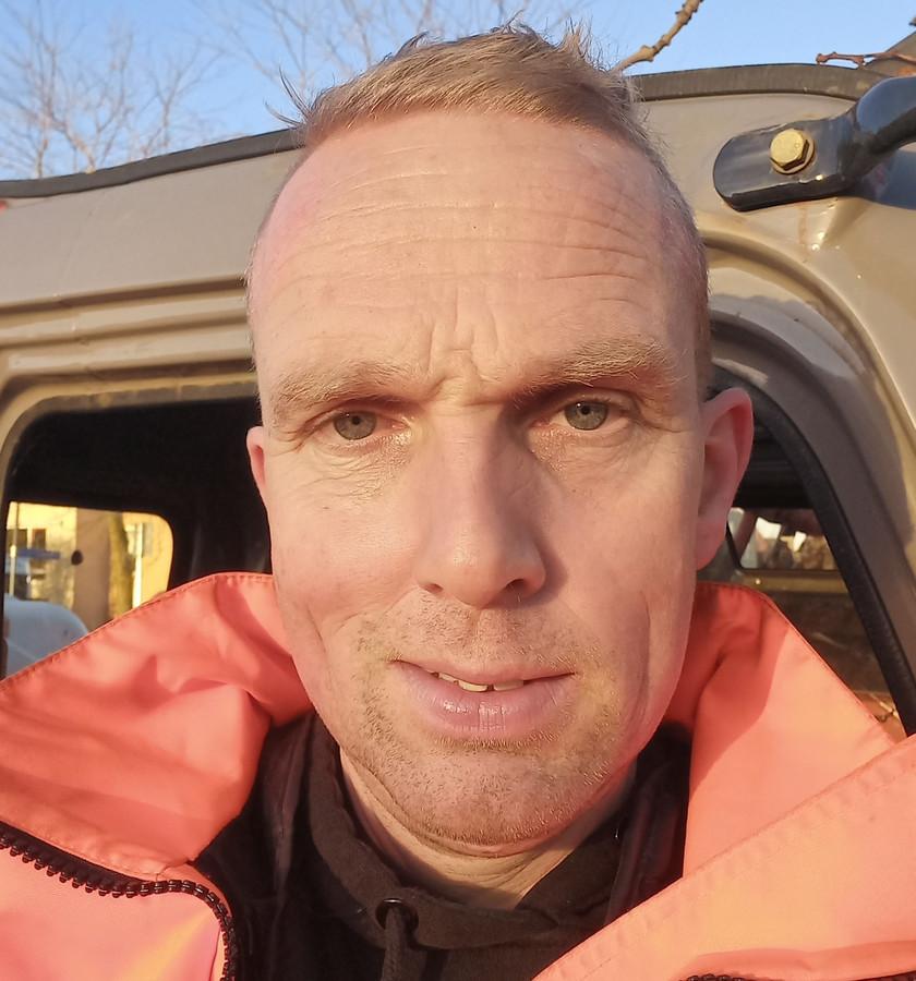 Ronald Valentijn, trombonist van de mars- en showband van DSS in Aarlanderveen.