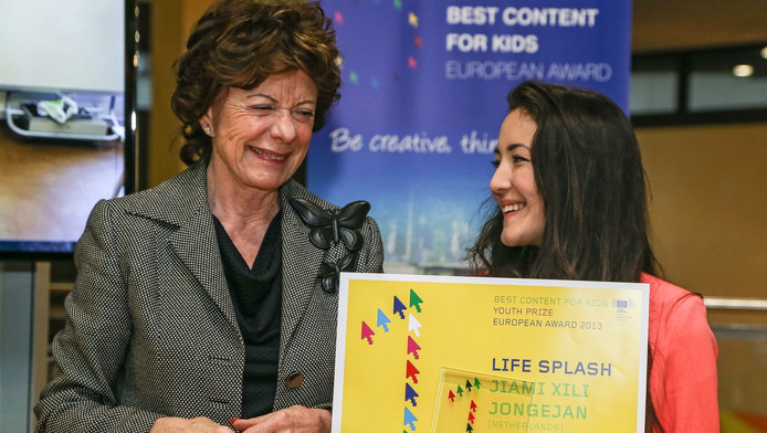 Eerder dit jaar kreeg Jongejan de European Award uitgereikt door Neelie Kroes.