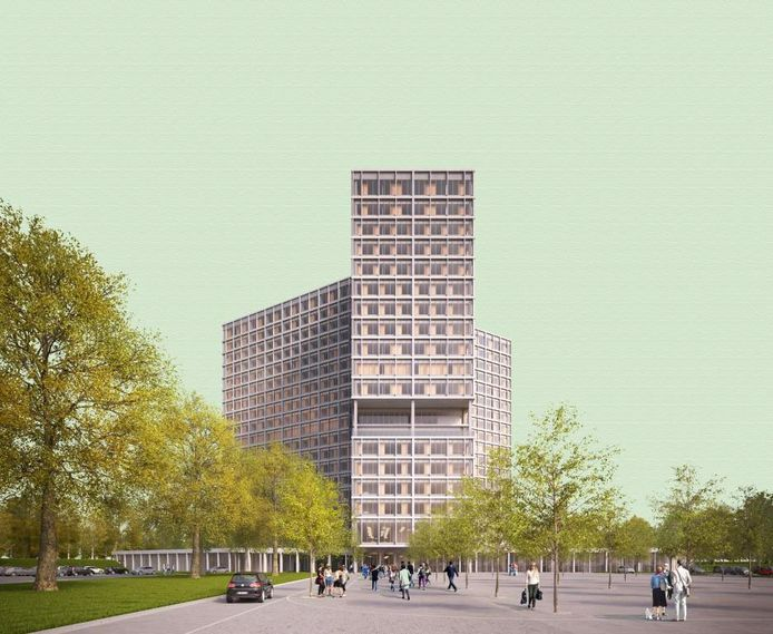 Zo zal het nieuwe ziekenhuis op campus Sint-Jozef er gaan uitzien... als het er komt.