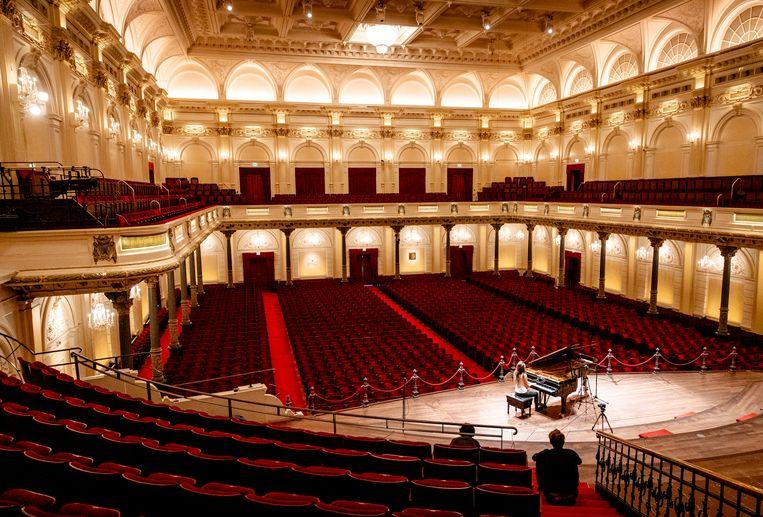 Na 111 dagen zonder publiek heropent Het Concertgebouw op 1 juli de deuren voor bezoekers. Beeld ANP