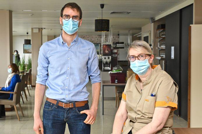 Zaterdag vonden de vaccinaties plaats in WZC De Zilvervogel.