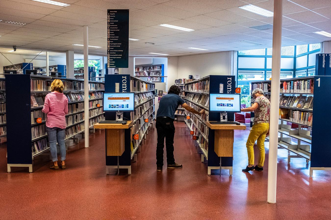 De huidige bibliotheek in cultureel centrum De Mallemolen.