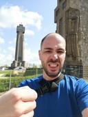 Patrick bij de start aan de IJzertoren.