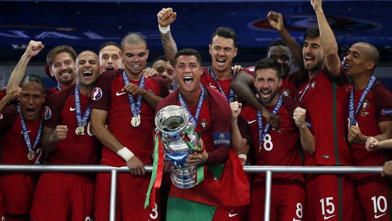 Portugal won afgelopen zomer het EK in Frankrijk. Beeld ANP