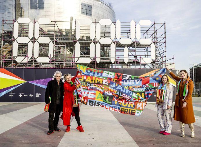 In het Museumpark, naast de 'discobal' van Museum Boijmans Van Beuningen, wordt dagelijks afgeteld naar de finale van het Eurovisie Songfestival. De stad wil 1616 Rotterdammers met een smalle beurs bij de shows toelaten.