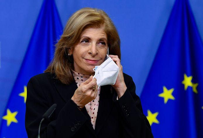 Europees commissaris voor Volksgezondheid Stella Kyriakides.