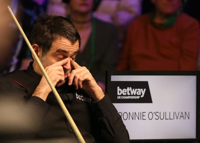 Ronnie O'Sullivan during day nine of the Betway UK Championship at the York Barbican. ! only BELGIUM !