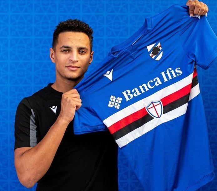Mohamed Ihattaren met het shirt van Sampdoria.