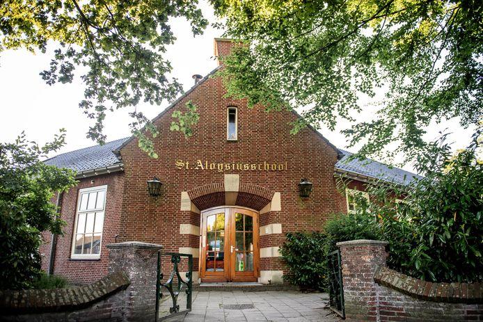 De gevel van de huidige Aloysiusschool komt terug in het ontwerp van het nieuwe schoolgebouw.