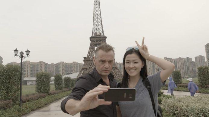 Nee, het is niet Parijs: Tom maakt ook een grote roadtrip door China.