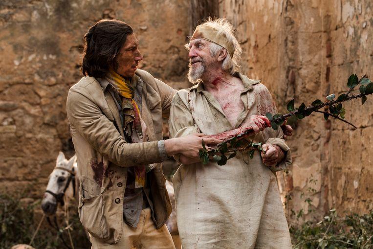 Adam Driver en Jonathan Prycer in The Man Who Killed Don Quixote. Beeld Diego Lopez Calvin
