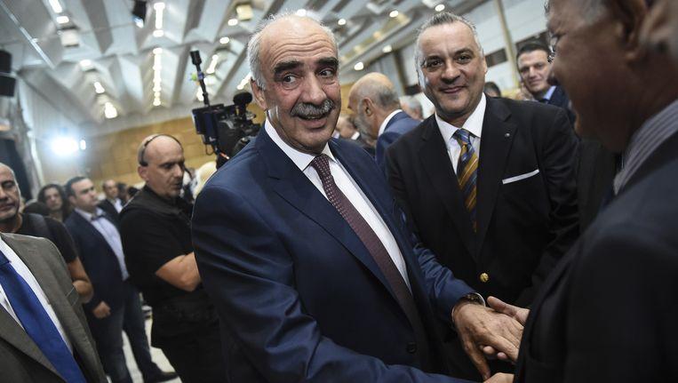 Evangelos Meimarakis (Nieuwe Democratie) is de grote uitdager van de ontslagnemende premier Alexis Tsipras (Syriza). Beeld AP