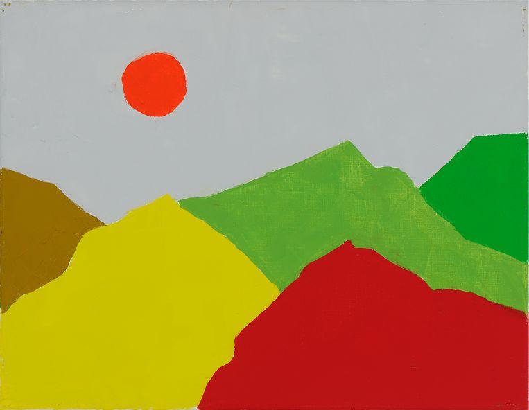 Etel Adnan, Untitled (2013) Beeld Sfeir-Semler Gallery, Beirut/Hamburg