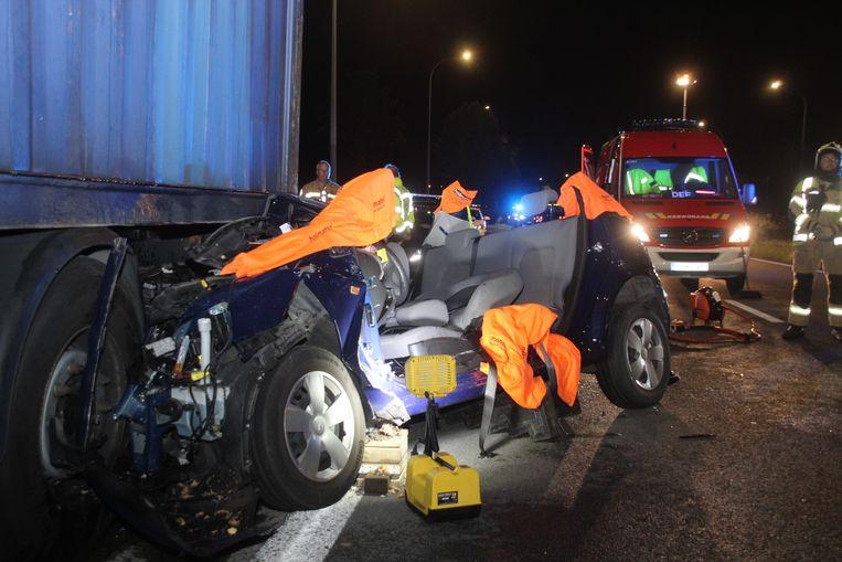 Het ongeval vond plaats op de N36 in Deerlijk.
