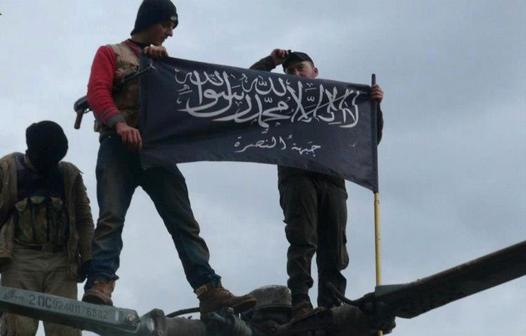Rebellen van Jabhat al-Nusra in het noorden van Syrië Beeld ap