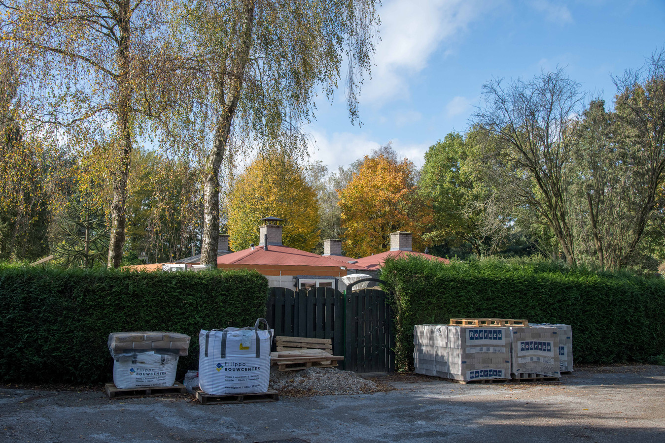 De bouwdrift op het vakantiepark is opvallend.