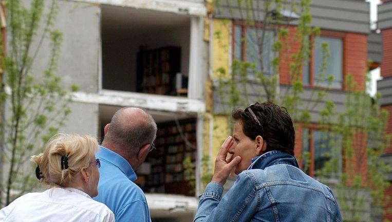 In 2003 stortten in Maastricht acht balkons in, de constructie was niet gecontroleerd Beeld Marcel van den Bergh
