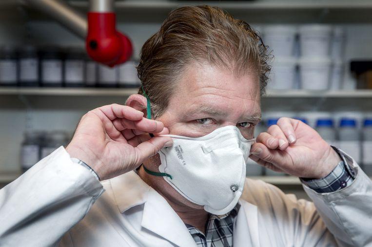 Een FFP2-masker.  Beeld Jean-Pierre Jans