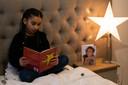 Kleindochter Lina (9) vertelde in haar boekbespreking voor school over haar oma.