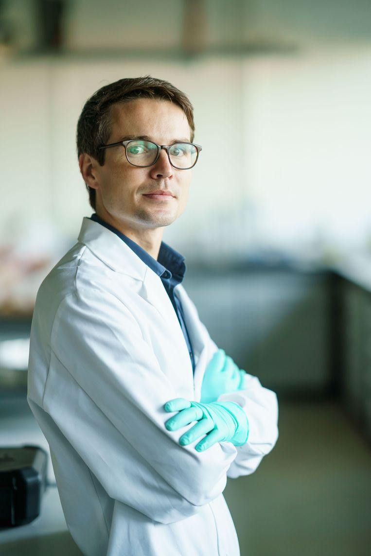 Christophe Snoeck, chemicus van opleiding, zou weleens Archeoloog van het Jaar kunnen worden.  Beeld Frédéric Raevens
