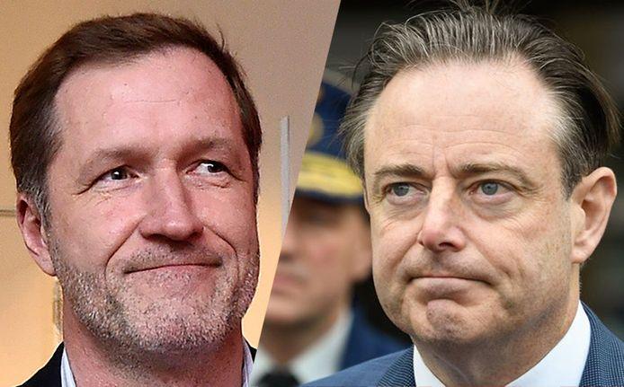 Le président du PS, Paul Magnette et celui de la N-VA, Bart De Wever.