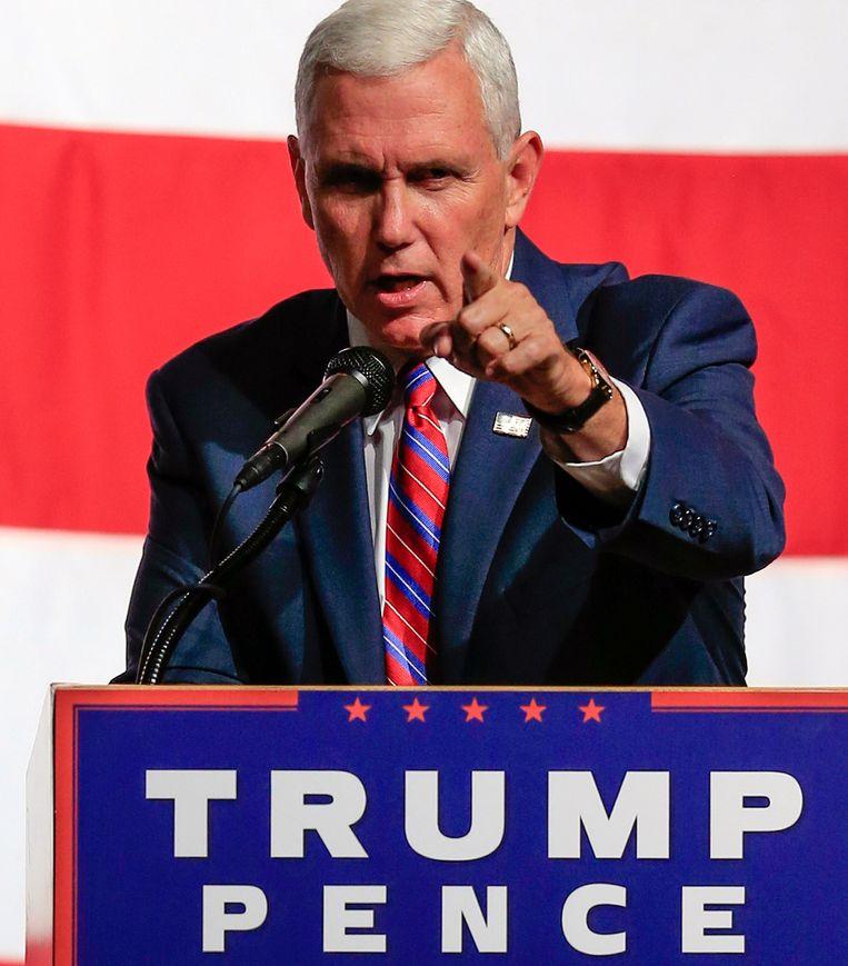 Trumps running mate Mike Pence. Beeld AP