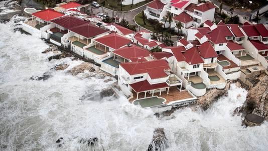 De nasleep van orkaan Irma op het Nederlandse deel van Sint-Maarten.