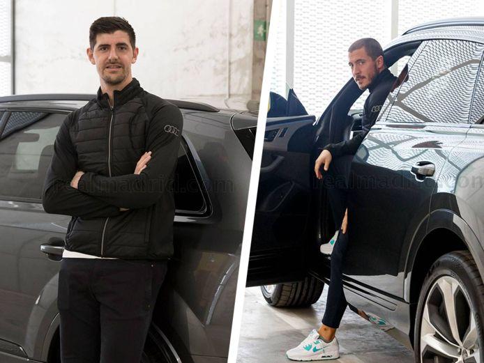 Eden Hazard et Thibaut Courtois ont respectivement opté pour la Q8 et la Q7.