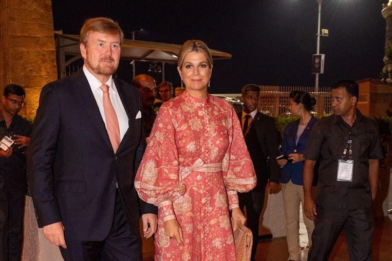 Koning Willem-Alexander en koningin Máxima in India. Beeld Brunopress