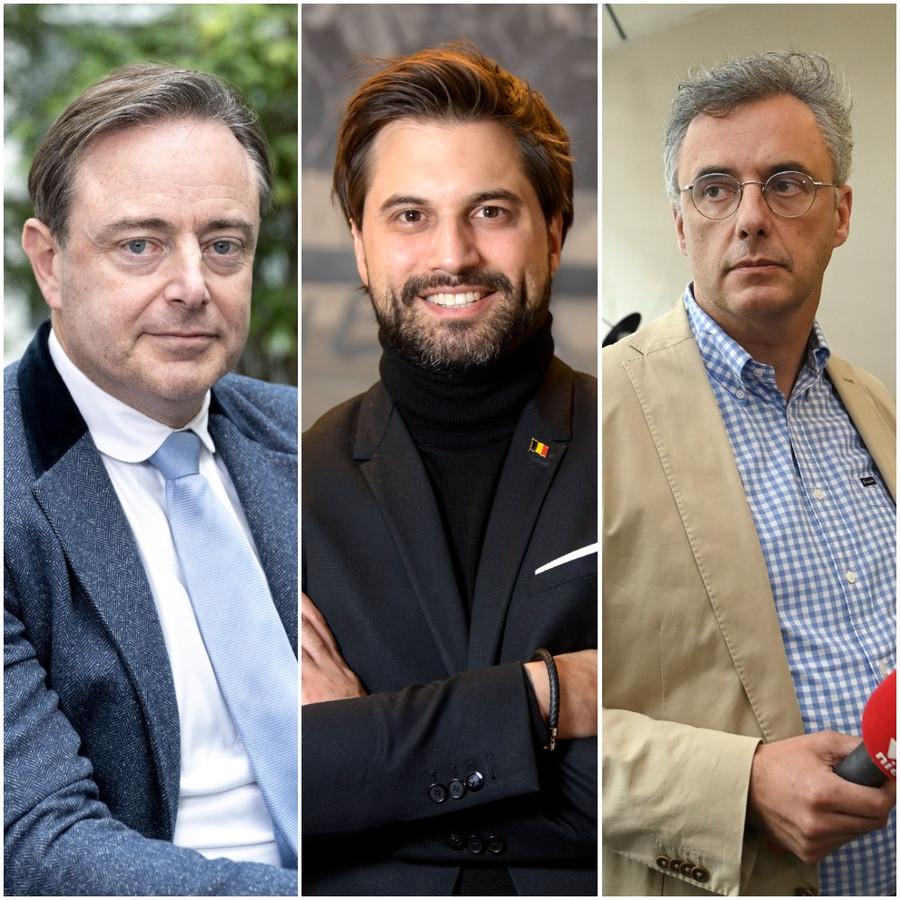 Bart De Wever, Georges-Louis Bouchez en Joachim Coens pleiten voor versoepelingen.