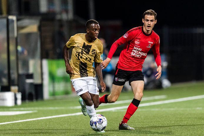 Sander Vereijken stond tegen Jong FC Utrecht voor het eerst dit seizoen weer eens in de basis bij Helmond Sport.