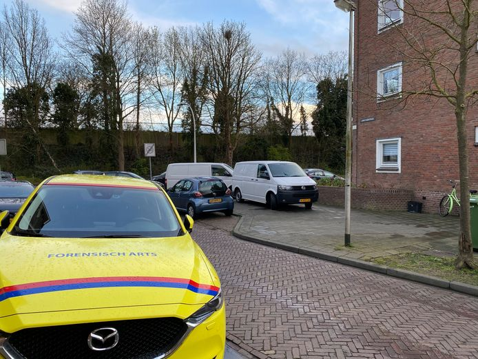 Een GGD-arts en onderzoekers van de politie onderzochten vanmiddag de dood van een man in Deventer.