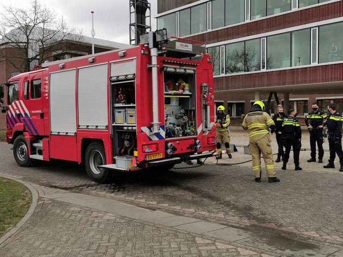 Een deel van het universiteitsgebouw in Wageningen is ontruimd.